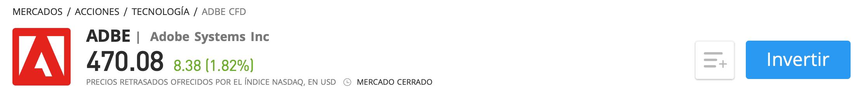 Comprar acciones Adobe eToro