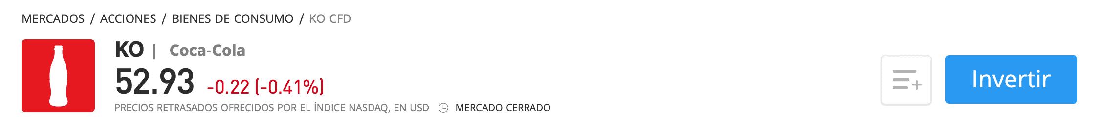 Comprar acciones Coca-Cola eToro