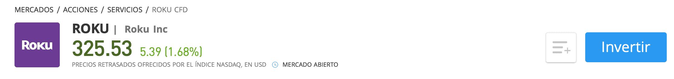 Comprar acciones Roku eToro